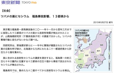 GP1_環境汚染_2015.5.27_東京新聞-ツバメの巣にセシウム