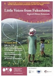 """Presentazione del film """"Little voices from fukushima"""