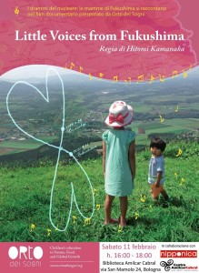 """"""" Little voices from Fukushima"""" a Bologna !"""